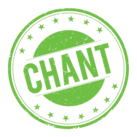 CHANT stamp sign text word logo green.