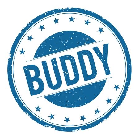 buddy: BUDDY stamp sign text word logo blue. Stock Photo