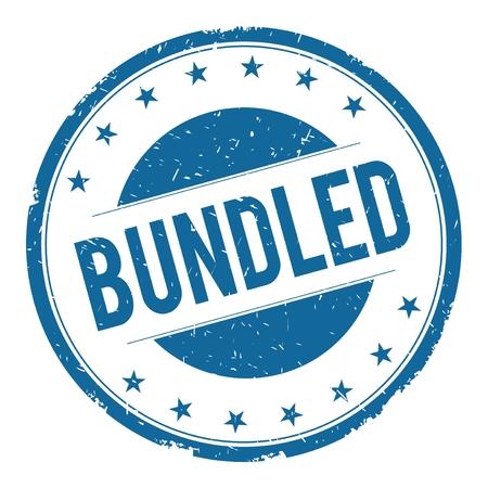bundled: BUNDLED stamp sign text word logo blue. Stock Photo