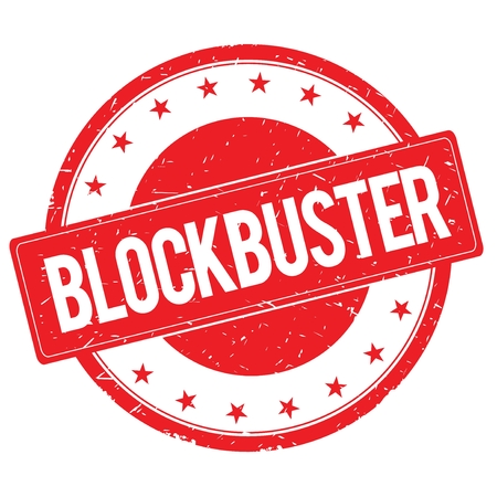 blockbuster: BLOCKBUSTER stamp sign text word logo red.
