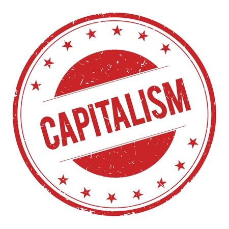 capitalism: CAPITALISMO sello de texto signo denominativo logotipo rojo.
