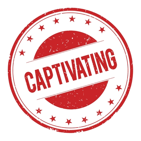 captivating: CAPTIVATING stamp sign text word logo red.