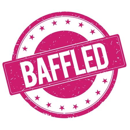 baffled: BAFFLED stamp sign text word logo magenta pink. Stock Photo