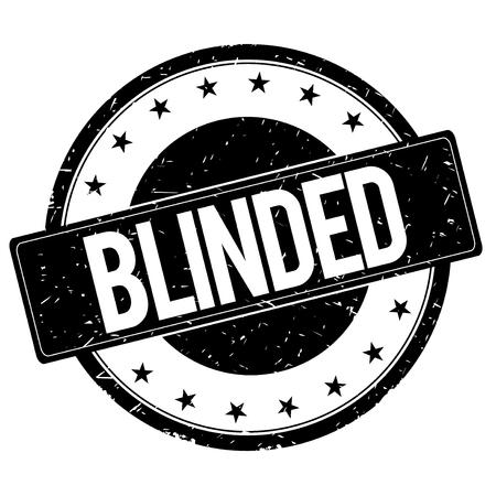 blinded: BLINDED stamp sign text word logo black.