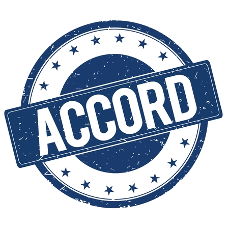 accord: ACCORD stamp sign text word logo blue.