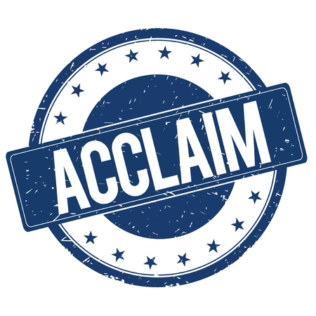 acclaim: ACCLAIM stamp sign text word logo blue.