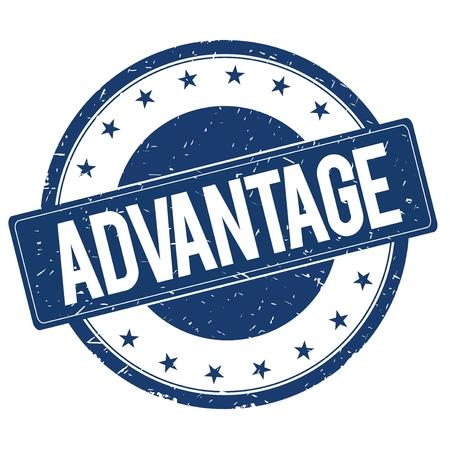 advantage: ADVANTAGE stamp sign text word logo blue.