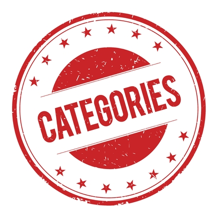 CATEGORIES stamp sign text word logo red.