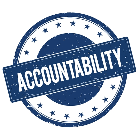 accountability: ACCOUNTABILITY stamp sign text word logo blue.