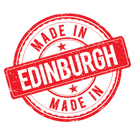made: Made in EDINBURGH stamp Stock Photo