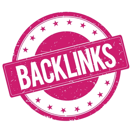 backlinks: BACKLINKS stamp sign text word logo magenta pink.