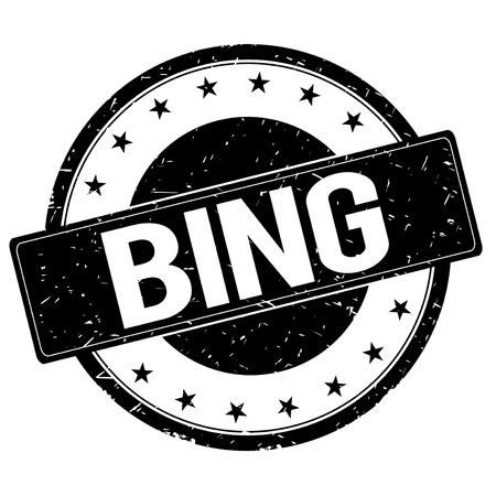 bing: BING stamp sign text word logo black.