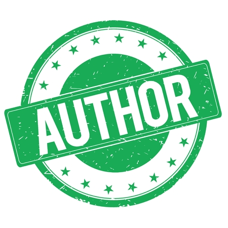 author: AUTHOR stamp sign text word logo green.