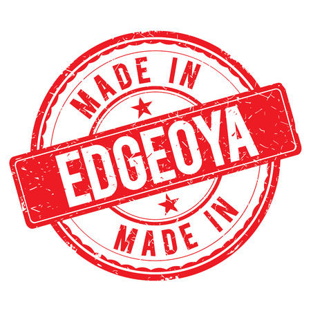 made: Made in EDGEOYA stamp Stock Photo