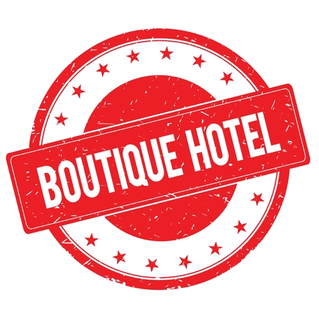 boutique hotel: BOUTIQUE HOTEL stamp sign text word logo red.