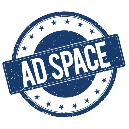 ad space: AD SPACE stamp sign text word logo blue.