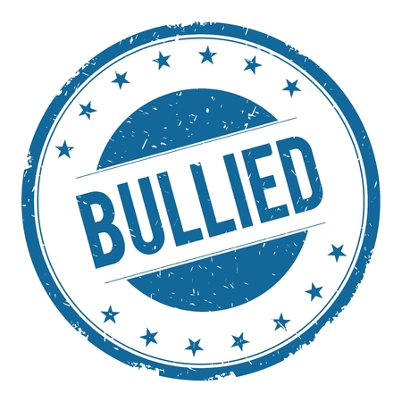 bullied: BULLIED stamp sign text word logo blue.