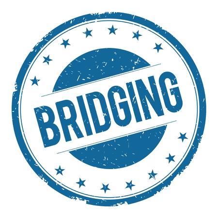bridging: BRIDGING stamp sign text word logo blue. Stock Photo