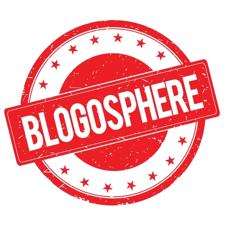 BLOGOSPHERE stamp sign text word logo red.