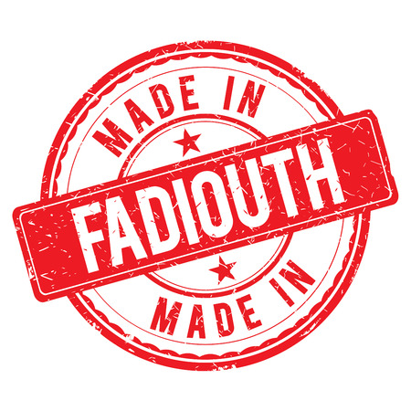 made: Made in FADIOUTH stamp Stock Photo