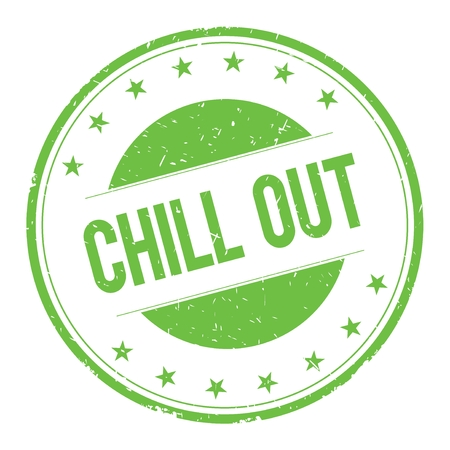 chillout: CHILL-OUT stamp sign text word logo green.