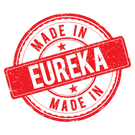 made: Made in EUREKA stamp Stock Photo