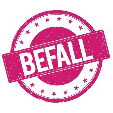magenta: BEFALL stamp sign text word logo magenta pink.