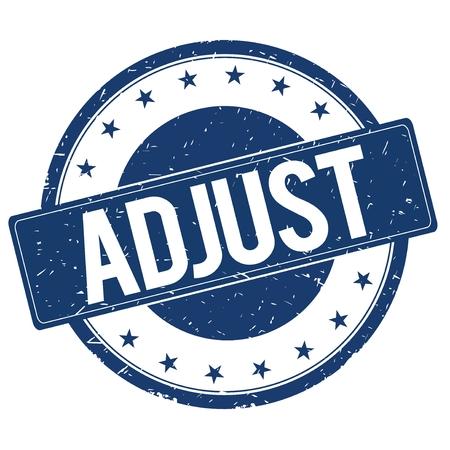 ADJUST stamp sign text word logo blue. Stock Photo