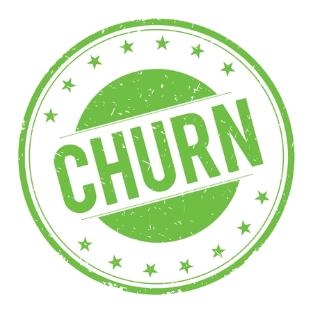 CHURN stamp sign text word logo green.