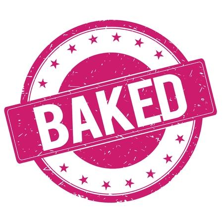 magenta: BAKED stamp sign text word logo magenta pink.