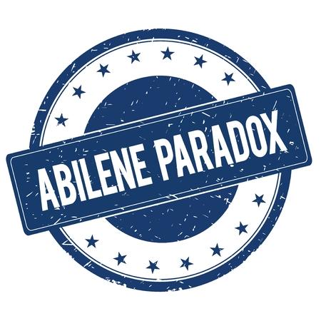paradox: ABILENE PARADOX stamp sign text word logo blue.