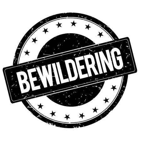 bewildering: BEWILDERING stamp sign text word logo black.