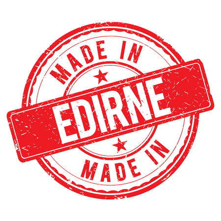 edirne: Made in EDIRNE stamp