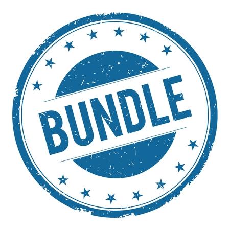 bundle: BUNDLE stamp sign text word logo blue. Stock Photo
