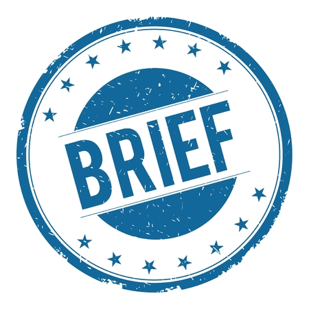 brief: BRIEF stamp sign text word logo blue.