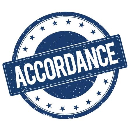 accordance: ACCORDANCE stamp sign text word logo blue.