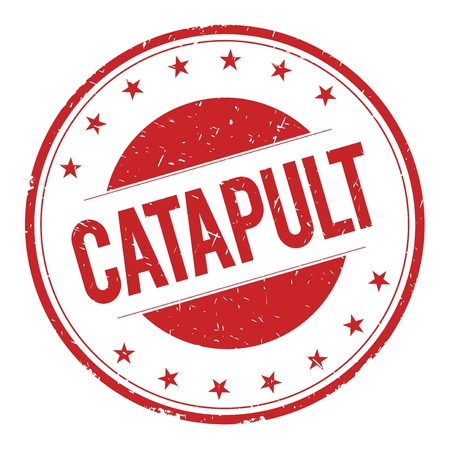 catapult: CATAPULT stamp sign text word logo red. Stock Photo
