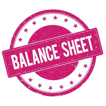 balancesheet: BALANCE-SHEET stamp sign text word logo magenta pink. Stock Photo