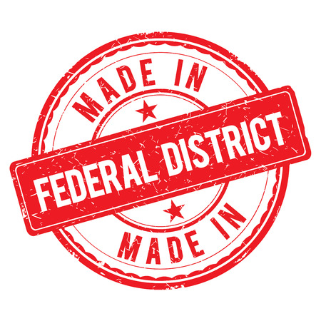 district: Made in FEDERAL DISTRICT stamp