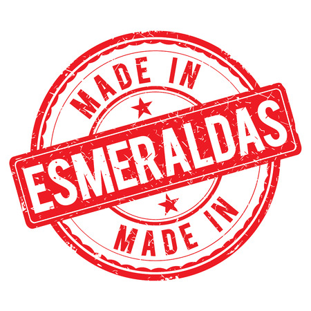 made: Made in ESMERALDAS stamp Stock Photo