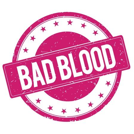 magenta: BAD-BLOOD stamp sign text word logo magenta pink.