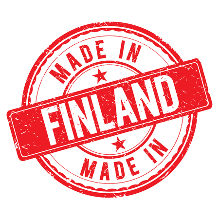 made: Made in FINLAND stamp Stock Photo