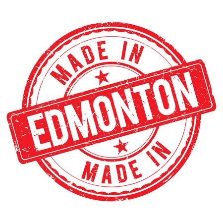 edmonton: Made in EDMONTON stamp
