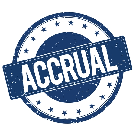 accrual: ACCRUAL stamp sign text word logo blue.