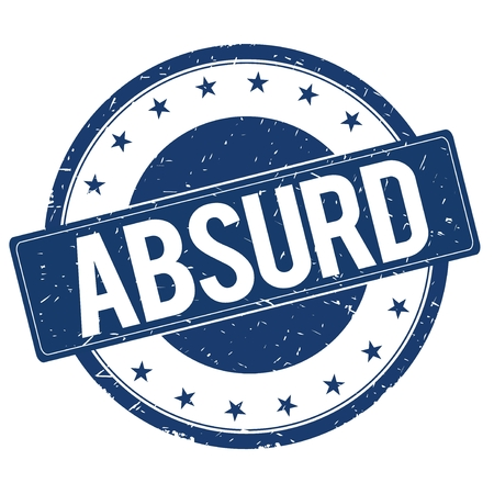 absurd: ABSURD stamp sign text word logo blue.