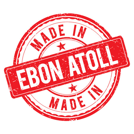 atoll: Made in EBON ATOLL stamp