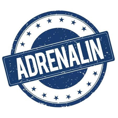 adrenalin: ADRENALIN stamp sign text word logo blue.