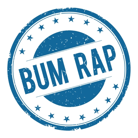 bum: BUM RAP stamp sign text word logo blue.