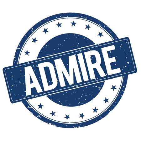 admire: ADMIRE stamp sign text word logo blue.