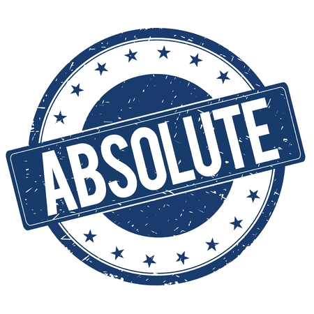 absolute: ABSOLUTE stamp sign text word logo blue.